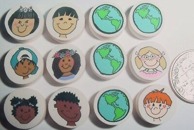 Children of the world Set HM Polymer Fimo Clay Beads