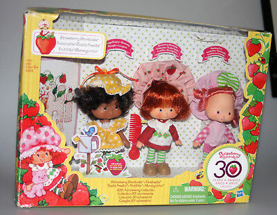 Strawberry Shortcake 30th Anniversary Set Of 3 Vintage Style Original Dolls NEW!