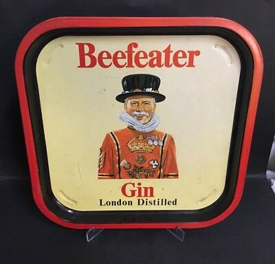 BEEFEATER GIN VINTAGE 1960's DRINKS TIN TRAY