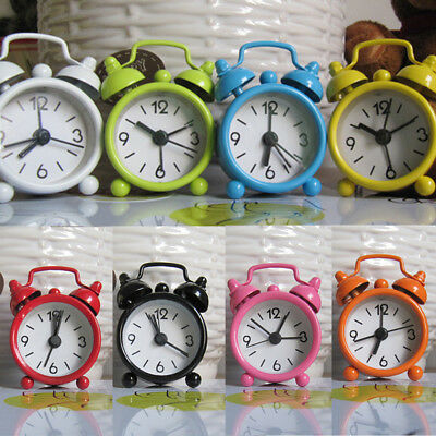 Fashion Home Outdoor Portable Cute Mini Dial Number Round Desk Alarm Clock New