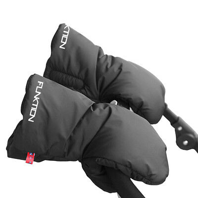 NEW FUNKTION GOLF Water repellent BLACK Fleece lined Winter Trolley Gloves.