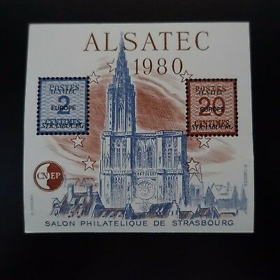 France Bloc Cnep N°1 Alsatec Strasbourg 1980 Neuf ** Luxe Mnh