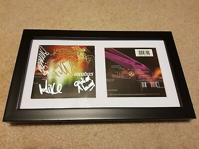INCUBUS Make Yourself SIGNED AUTOGRAPH FRAMED DISPLAY #A Brandon Boyd +4