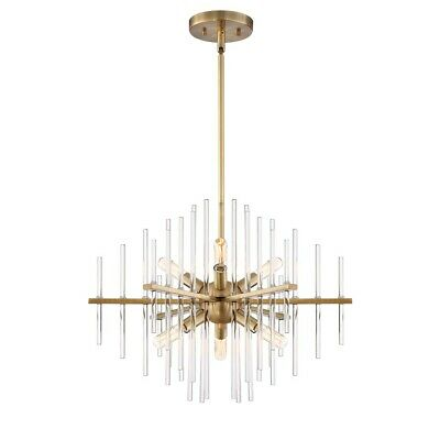 Designers Fountain Reeve 6 Light Chandelier, Burnished Antique Brass - 90486-BAB