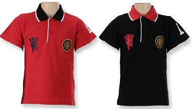 Manchester United Polo Collar Man Utd Fc T Shirt Top Kids Size 4 To 12 Official 9 99 Picclick Uk