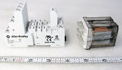 11 Pin Plug-In Relay 15 amp 30 VDC 250 Volt + plug in holder A-B 700-HB33A1