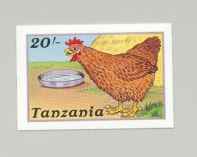 Tanzania 1988 Chickens 1v Imperf Proof