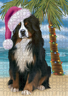 Summertime Bernese Mountain Dog on Beach Puzzle with Photo Tin PL2565 (551 pc.)