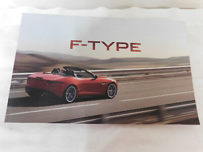 2012 F-Type F-Type S F-Type V8 S Jaguar Brochure Excellent Condition