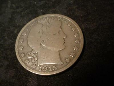 1915 Silver Barber Half Dollar Good