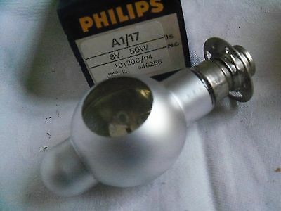 Projector bulb lamp A1/17 or A1/263 A1/202 8v 50w 13120C/04  ..... 1  fx