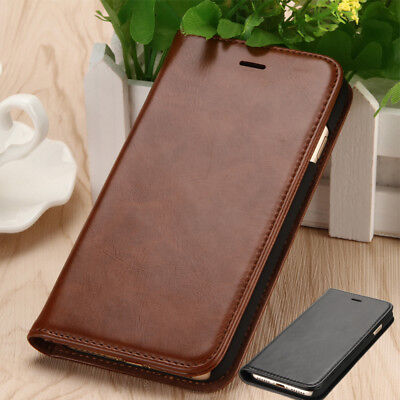 Genuine Leather Slim Wallet Card Flip Case Cover For iPhone 8 Plus 7 5.5' 6 6s