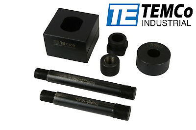 """NEW TEMCo Double D Punch Die Set 1-3/8"""" x 1-1/8"""" Knockout Hole w/ Case"""