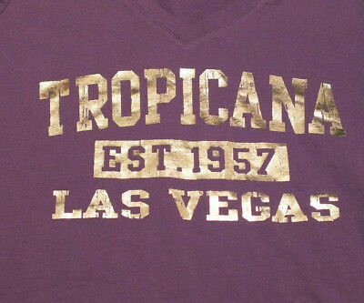 TROPICANA LAS VEGAS EST. 1957 Women's Purple 100% Cotton T Shirt sz Small
