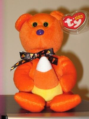 Ty Beanie Baby ~ TREATOR the Halloween Bear ~ MINT with MINT TAGS ~ RETIRED