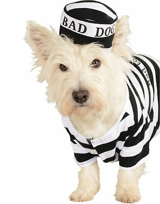 Prisoner Bad Dog Convict Criminal Halloween Pet Costume