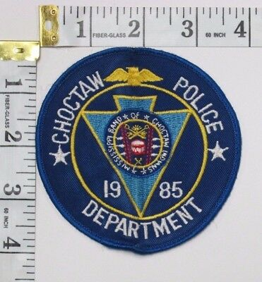 Choctaw Mississippi Police Department Shoulder Patch