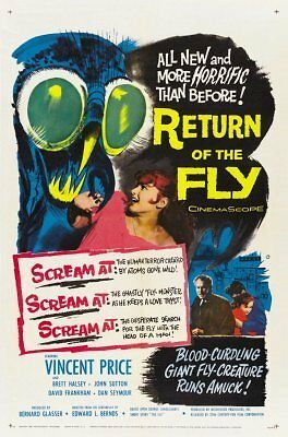 Return Of The Fly Movie Poster 24inx36in (61cm x 91cm)