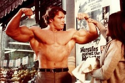 Arnold Schwarzenegger 70'S Muscle Building AD Poster 11x17 Mini Poster
