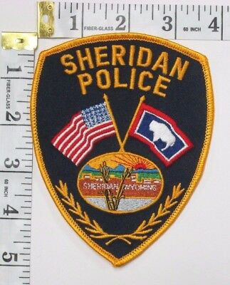 Sheridan Wyoming Police Department Shoulder Patch
