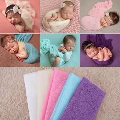 Newborn Baby Infant Toddler Photography Photo Props Wrap Yarn Swaddle Blanket