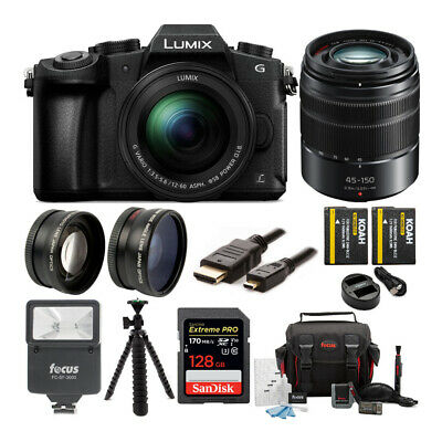 Panasonic LUMIX G85MK  w/ 12-60mm & 45-150mm (2 Lens Kit) & 128GB Bundle