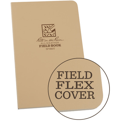 Rite in the Rain All-Weather Tactical No 980T Field Notebook Tan Ships Free NSN