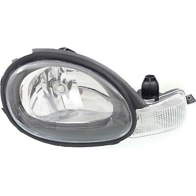 Headlight For 2000-2002 Dodge Neon Right Halogen Black Interior