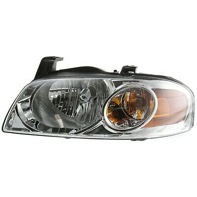 Halogen Headlight For 2004-2006 Nissan Sentra Left w/ Bulb(s) w/ Chrome Interior