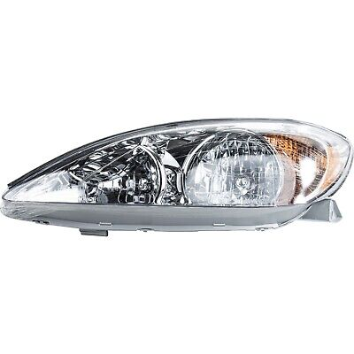 Halogen Headlight For 2002-2004 Toyota Camry Left Chrome Interior w/ Bulb