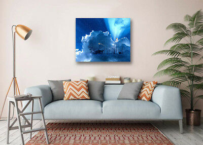 """Angel Sitting Cloud Art Poster Prints Wall Room Decor Canvas Painting 16x20"""""""