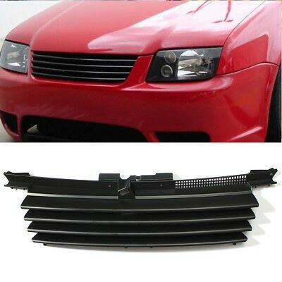 For 1999-2005 VW Jetta Bora MK4 Front Euro Badgeless Grill w/ Hood Notch Filler