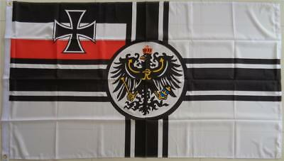 German Imperial Flag With Crest WW1 Germany Flag
