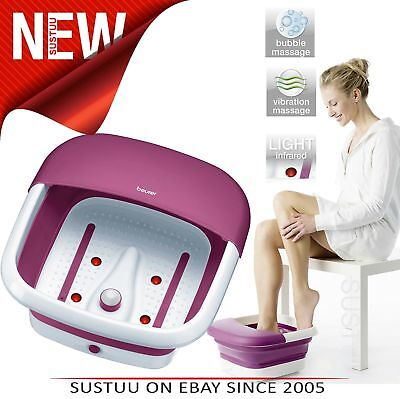 Beurer FB30 World's First Foldable & Space Saving Foot Spa│Infrared│3 Functions│
