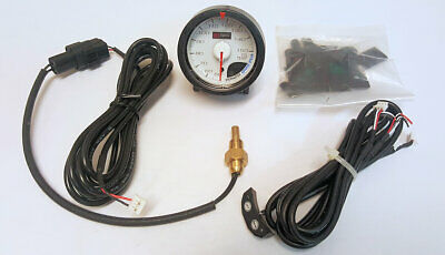 D1 Spec 52mm JDM Stepper Motored Black Face 2 Bar Boost Gauge