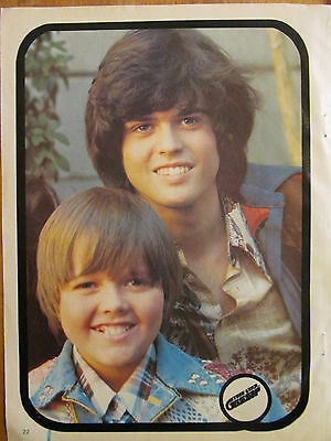 Osmonds, Donny and Jimmy Osmond, Full Page Double Pinup, Brothers, Michael Gray