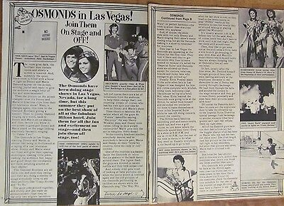Osmonds, Donny Osmond, Two Page Vintage Clipping, Brothers