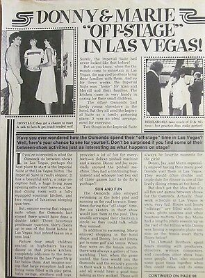 Donny and Marie Osmond, Vintage Clipping, Osmonds Brothers, Shaun Cassidy