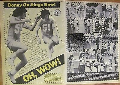 Donny Osmond, Two Page Vintage Clipping, The Osmonds Brothers