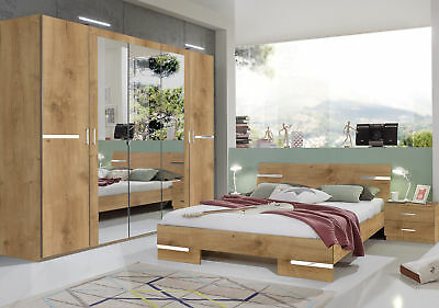 Qmax 'City' Range German Made Bedroom Furniture. Naked / Plank Oak Finish.
