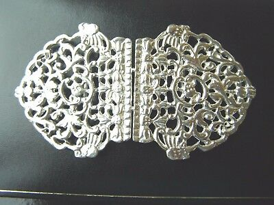 Hallmarked Silver Nurses Buckle. Brand New English Made Silver Nursing Buckle