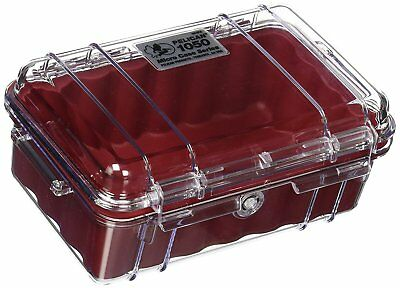 Pelican 1050 Micro Case - Clear/Red