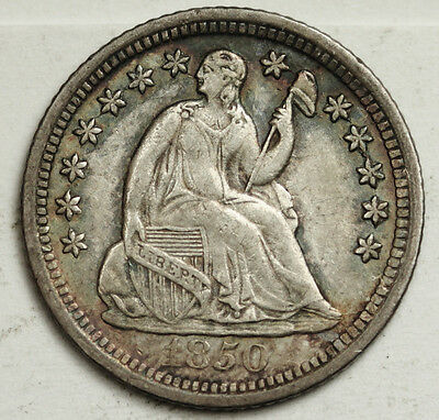 1850-o Seated Liberty Half Dime.  Cud on Reverse.  A.U.  93109