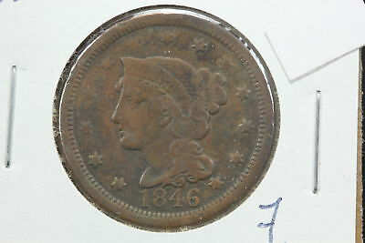 1846 Large Cent VG N-23 Repunched 1