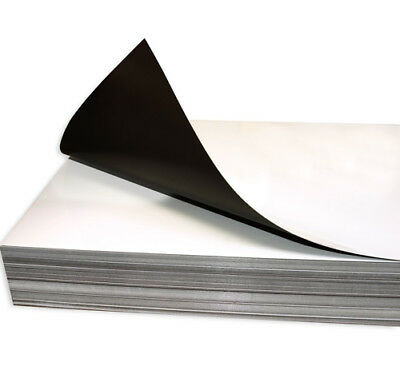 """5 SHEETS 20-24 MIL THICK GLOSS INKJET MAGNET PAPER 8.5"""" x 11"""" Made in USA"""