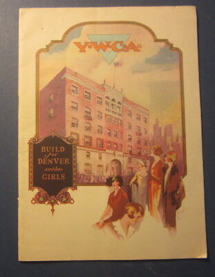 Old 1926 - YWCA - Denver COLO. - Building Campaign BOOK & Letterhead Document
