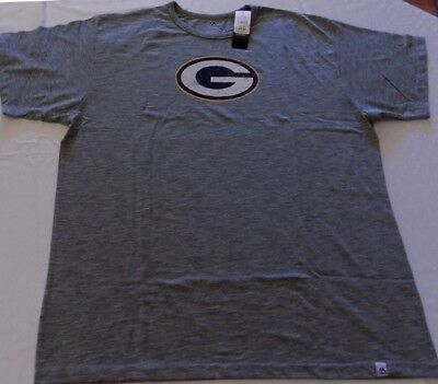 59cae1ecf Green Bay Packers T-shirt Plus Sizes Heather Gray Majestic Athletics NFL