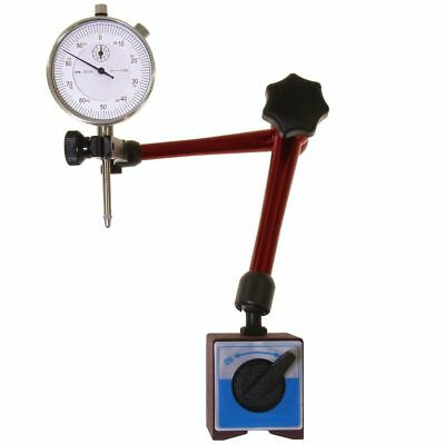 "TÜRLEN Dial Indicator 3D Magnetic Base Holder 14"" Reach Central Locking 176 lb"