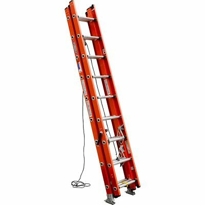 Werner D6224-3 24' Fiberglass D-Rung Extension Ladder-300lb Rated IA-3 Section