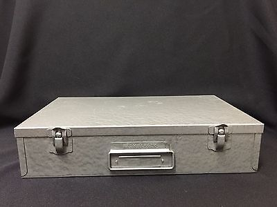 Vintage! Brumberger Metal Storage Case Box for 2x2 Slides and Coin Holders